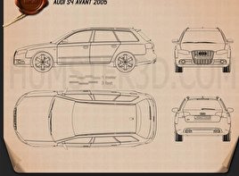 Audi S4 Avant 2005 car clipart