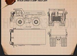 Hitachi EH1100-5 Dump Truck 2014 clipart