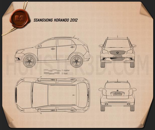 SsangYong Korando (New Actyon) 2012 car clipart