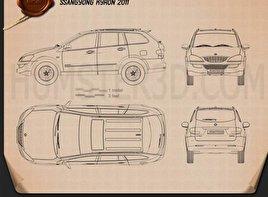 SsangYong Kyron 2011 car clipart