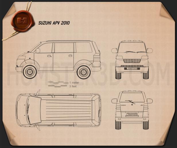 Suzuki APV 2010 Clipart Image