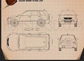 Suzuki Grand Vitara 2011 car clipart