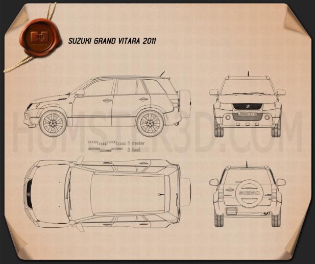 Suzuki Grand Vitara 2011 Clipart Image