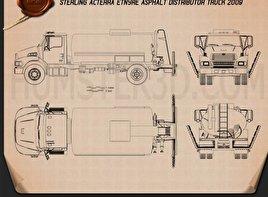 Sterling Acterra Etnyre Asphalt Distributor Truck 2009 clipart
