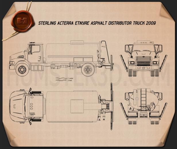 Sterling Acterra Etnyre Asphalt Distributor Truck 2009 Clipart Bild
