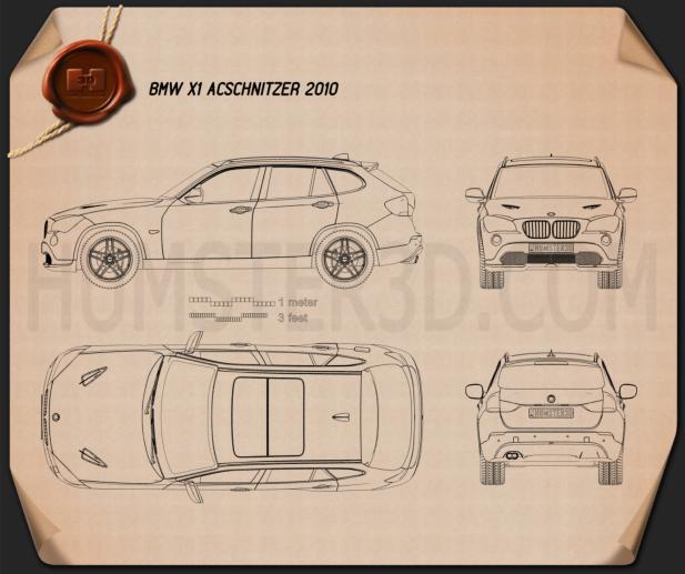 BMW X1 2010 AC Schnitzer Clipart Image