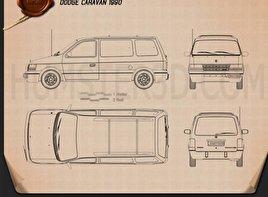 Dodge Caravan 1990 clipart