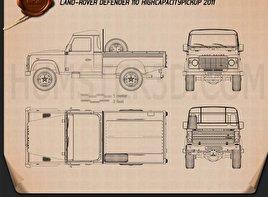 Land Rover Defender 110 High Capacity Pickup 2011 car clipart