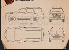 Nissan Pathfinder 2010 car clipart