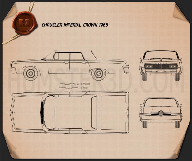 Chrysler Imperial Crown 1965 car clipart