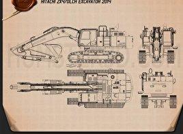 Hitachi ZX470LCH Excavator 2014