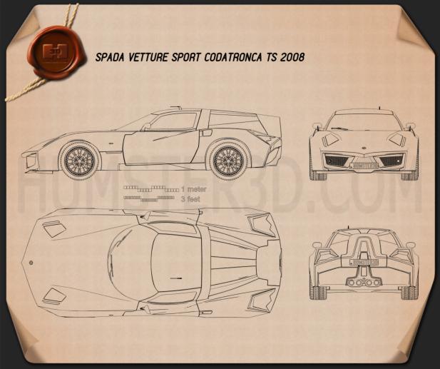 SVS Codatronca TS 2008 car clipart