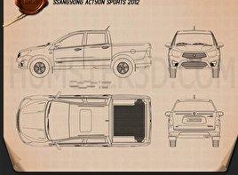 SsangYong Korando Sports (New Actyon) 2012 car clipart