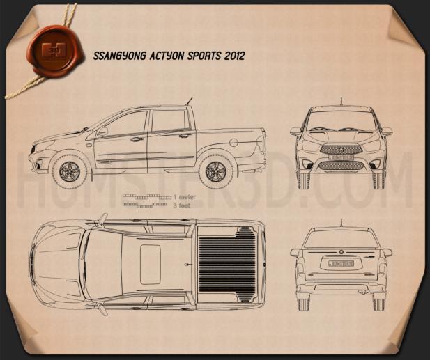 SsangYong Korando Sports (New Actyon) 2012 Clipart Image
