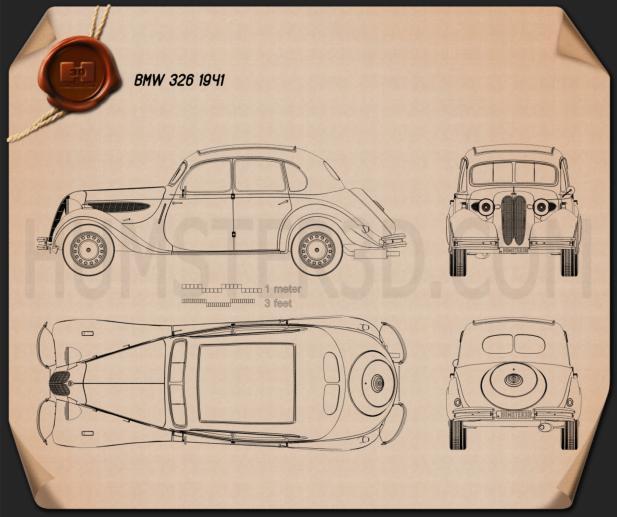 BMW 326 1941 Clipart Bild