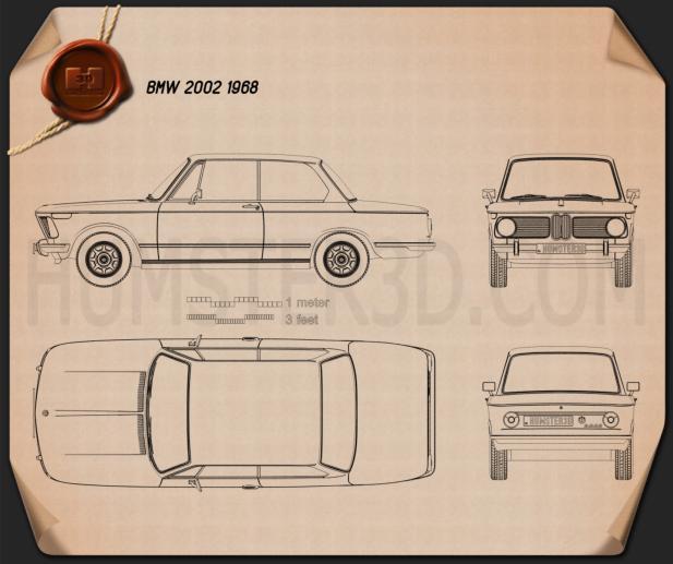 BMW 2002 1968 Clipart Bild