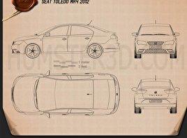 Seat Toledo 2012 car clipart