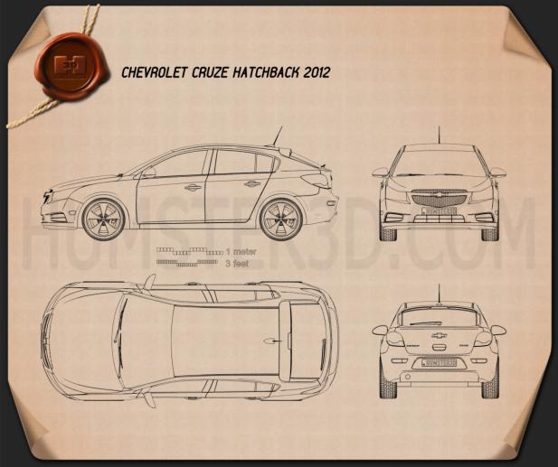 Chevrolet Cruze (J300) Schrägheck 2012 car clipart