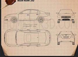 Nissan Maxima 2012 car clipart