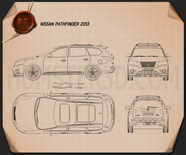Nissan Pathfinder 2013 Clipart Image