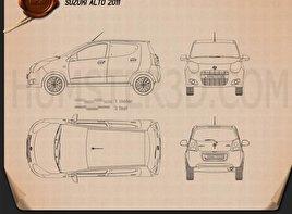 Suzuki Alto 2011 car clipart