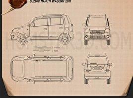 Suzuki (Maruti) Wagon R 2011 car clipart