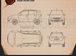 Suzuki Splash 2008 car clipart