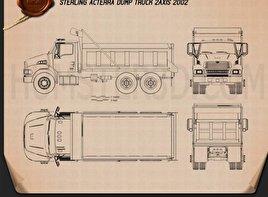 Sterling Acterra Dump Truck 2002 clipart