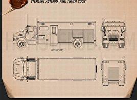 Sterling Acterra Fire Truck 2002 clipart