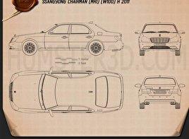 SsangYong Chairman H 2011 car clipart