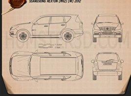SsangYong Rexton 2012 car clipart