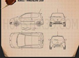 Renault Twingo RS 2008 car clipart