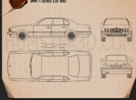 BMW 7 Series (E32) 1992