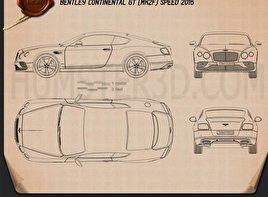 Bentley Continental GT Speed 2015 Clipart