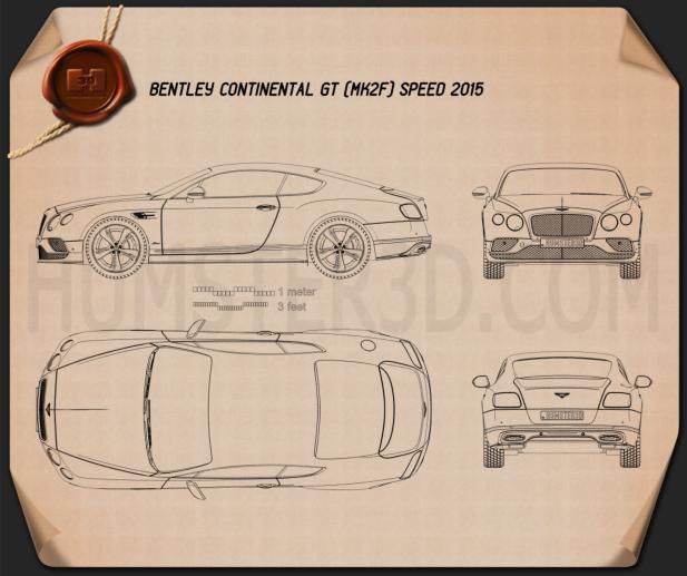 Bentley Continental GT Speed 2015 car clipart
