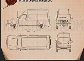Nissan NV Cargo Van High Roof 2013 clipart