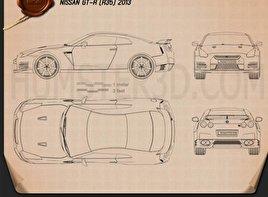 Nissan GT-R (R35) 2013 car clipart