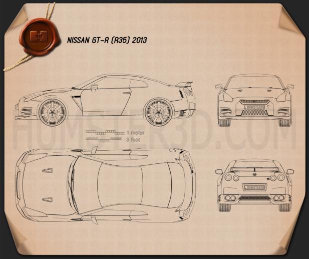 Nissan GT-R (R35) 2013 Imagem Clipart
