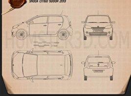 Skoda Citigo 5-door 2013 car clipart