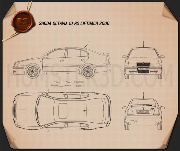 Skoda Octavia RS Tour 2000 car clipart
