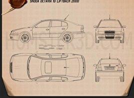 Skoda Octavia Tour 2000 car clipart
