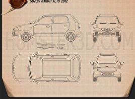 Suzuki Maruti Alto 2012 car clipart