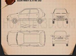 Suzuki (Maruti) Alto K10 2012 car clipart