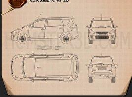Suzuki (Maruti) Ertiga 2012 clipart