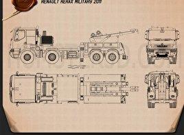 Renault Kerax Military Crane 2011 Clipart