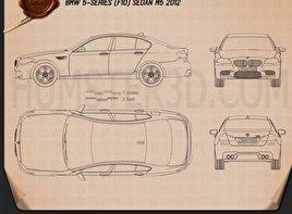 BMW M5 sedan (F10) 2012