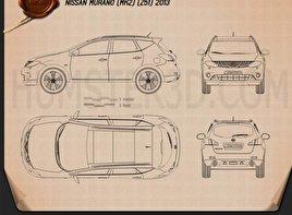 Nissan Murano (Z51) 2013 car clipart