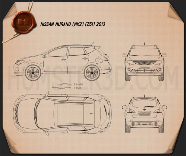 Nissan Murano (Z51) 2013 Clipart Image