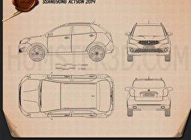 SsangYong Actyon 2014 car clipart