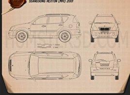 SsangYong Rexton 2001 car clipart